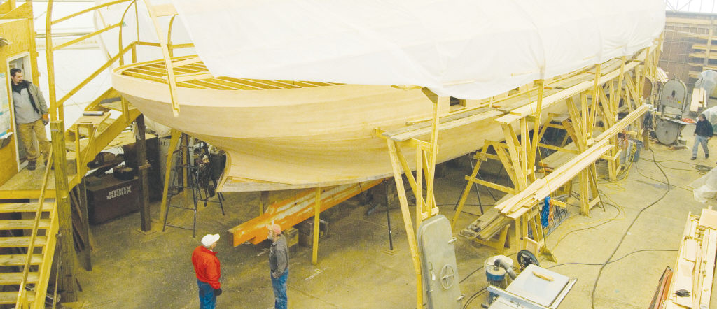 Resurrection of the wooden yacht Freedom | Jamestown Press